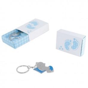 Caja bebe llavero dormilon azul