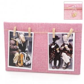 Portafoto madera cuadrado rosa